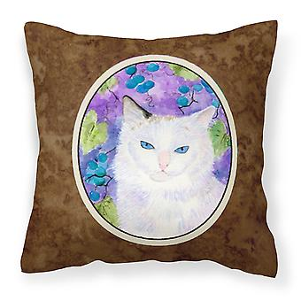 Carolines skatter SS1065PW1414 katten dekorative lerret stoff pute