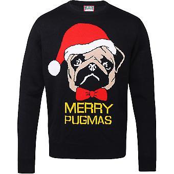 Christmas Mens & kvinners Merry Pugmas festlig Pug Genser genser