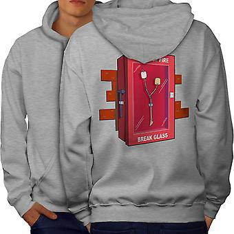 Camping Cook Fire Men GreyHoodie Back | Wellcoda