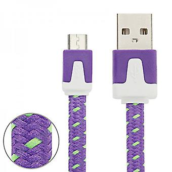 1m USB data and charging cable for all Smartphone and Tablet micro USB purple