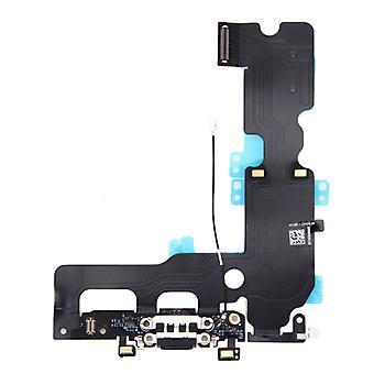 Base conector micrófono Flex cable para Apple iPhone 7 plus carga Jack Black