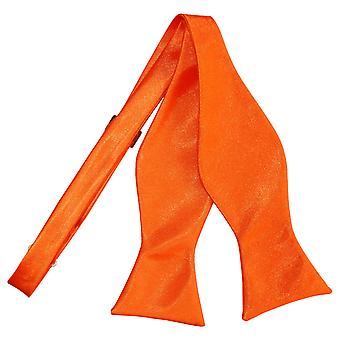 Burnt Orange Plain Satin Self-Tie Bow Tie