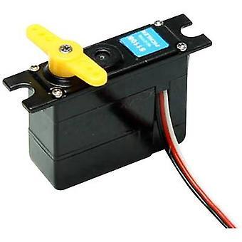 Master Mini servo MASTER S1108 Analogue servo Gear box material: Plastic Connector system: JR