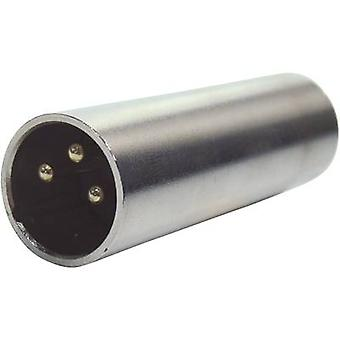 Paccs XLR adapter [1x XLR plugg-1x XLR plugg] sølv