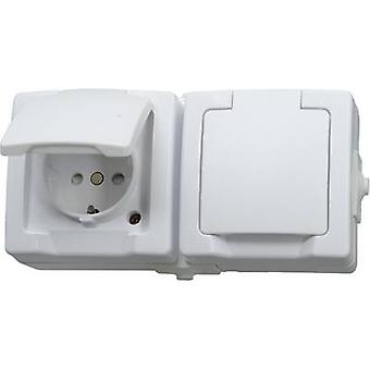 Kopp 137002003 Wet room switch product range Twin socket