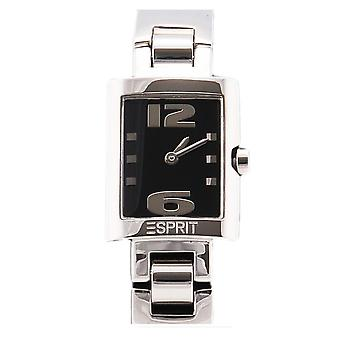 Atemberaubende Damenuhr Esprit schwarz silbernen Schmuck Verkauf Preis UK RRP £139