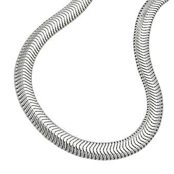 Catena 4mm serpente piatto lucido argento 925 42 cm