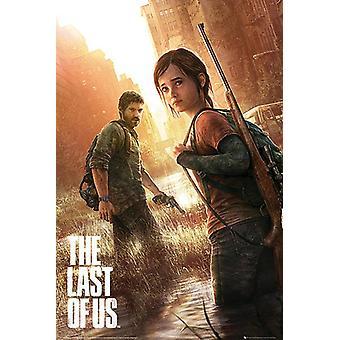 El último de los carteles de los Estados Unidos Joel y Ellie (arte de tapa original). 91.5 x 61 cm