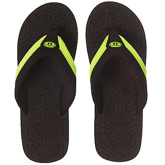 Animal Mens Jekyl Slim Summer Beach vacanță Thongs sandale flip flops-negru
