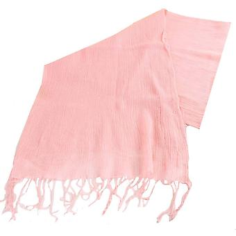 Bassin en Brown Gower vlakte geweven wol sjaal - roze
