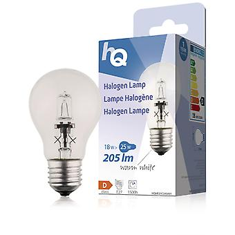 Hq Hqhe27 clas001 Halogeenlamp Classic Gls E27 18 W 205 Lm 2 800 K