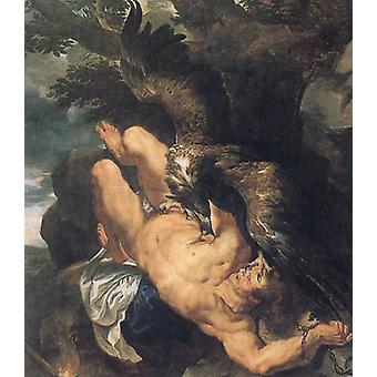 Prometbeus Bound,Peter Paul Rubens, 60x50 cm