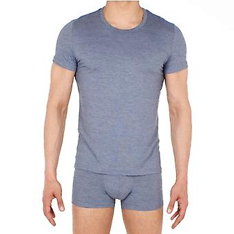 HOM جالانت تي قميص طاقم الرقبة - جينز الأزرق (رمادي)