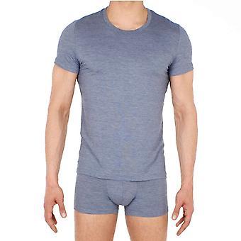 HOM Gallant Tee Shirt Crew Neck - Jeans Blue (Grey)