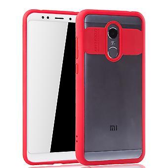 Ultra Slim Case für Xiaomi Redmi 5 Plus Handyhülle Schutz Cover Rot