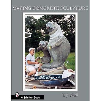 Fazendo a escultura em concreto