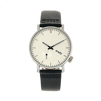 Simplify The 3600 Leather-Band Watch - Silver/Navy