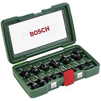 Bosch Accessories 2607019468 15-piece HM milling set 1/4 Shaft Shank diameter 1/4 (6.35 mm)