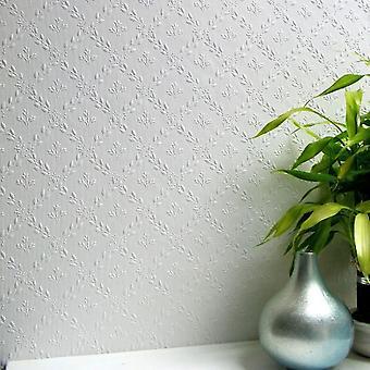 Papel tapiz pintable Duplex realzado fácil aplicar flores lujo Hamnett Anaglypta