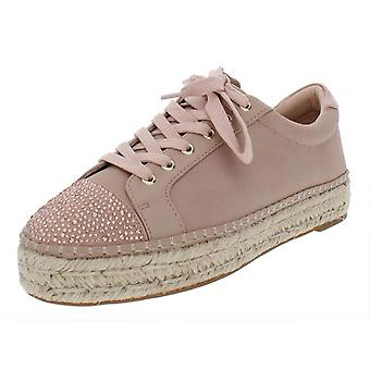 INC International Concepts Womens Eliza Leather Low Top Lace Up Fashion Sneak...
