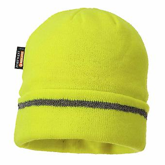 sUw - reflexivo recortar Knit Hat Insulatex forrado amarillo Regular