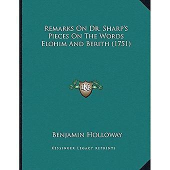 Bemerkninger om Dr. Sharpacentsa - en Centss stykker på ordene Elohim og Berith (1751)
