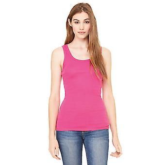 Cotton Addict Womens/Ladies Sheer Rib Longline Vest Tank Top