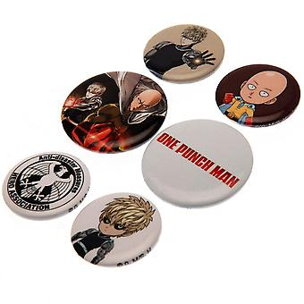 One Punch Man Anime Manga Button Badge Set (Pack Of 6)