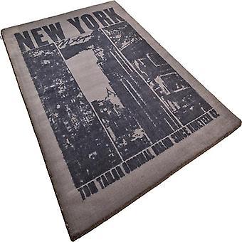 Tapis - Happy New York - noir