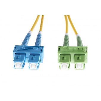 Câble duplex fibre optique monomode SC-SC/APC Os1/