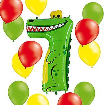 Animaloons Figure 7 crocodile + 12 latex balloons