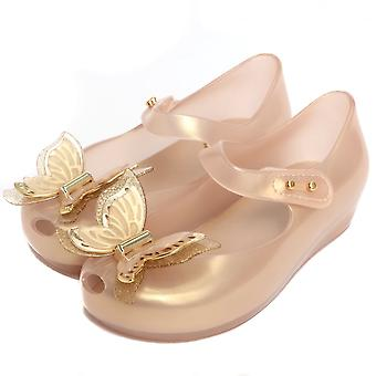 Melissa Shoes Mini Melissa Ultragirl Butterfly Shoe, Soft Gold