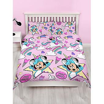 Minnie Mouse Unicorns Duvet Cover and Pillowcase Set