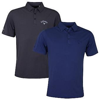 Callaway Mens 2020 New Box Jacquard Golf Polo Shirt