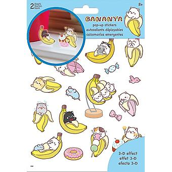 Sticker Pop-up - Bananya - Stationery New st5160