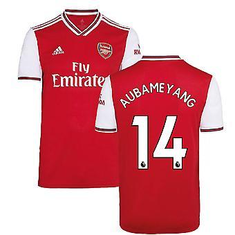 2019-2020 Arsenal Adidas hemma fotbollströja (AUBAMEYANG 14)