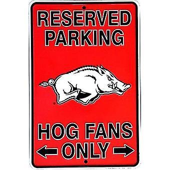 "Arkansas Razorbacks NCAA ""Hogs Fans Only"" Señal de Estacionamiento Reservado"