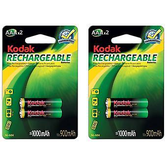 4x μπαταρίες AAA επαναφορτιζόμενη μπαταρία NiMH 1000 mAh