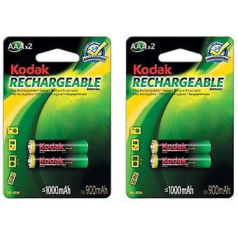 4x Kodak batterie rechargeable AAA NiMH 1000 mAh batteries