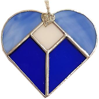 Simmerdim Design Five Section Heart Blue