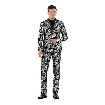 Allthemen mannen ' s 3-delige tuxedos feest partij slim fit blazer & vest & broek