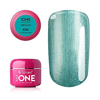 Base one-Metallic-Turquoise 5g UV gel