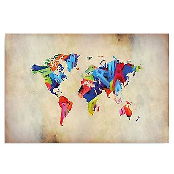 Painel Deco, mapa de cores do mundo