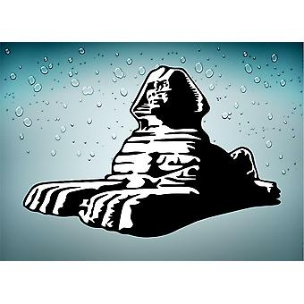 Sticker Sticker Ancient Egypt Ancient Egyptian Sphinx Giza Black White