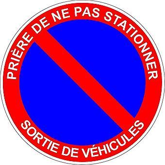 Sticker Sticker Forbidden Parking Parking Exit Vehicle Panel
