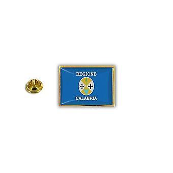 Pine Pines rinta nappi PIN-apos; s metalli epoksi perhonen hyppysellinen lippu Italia Calabria