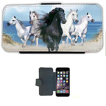 Beach Horses iPhone 6 Wallet case case Picture wallet shell