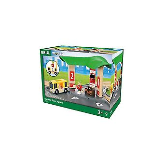 Brio 33427 Brio Bus And Train Station Wooden Railway
