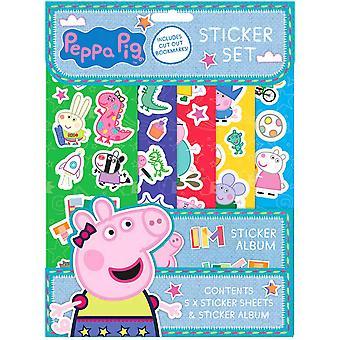 Peppa Pig Greta Pig Sticker Set Stickers Reusable + Album