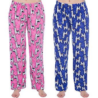Selena Girl Kids Super Soft Warm Winter Llama Nightwear Pyjama Bottoms Pants
